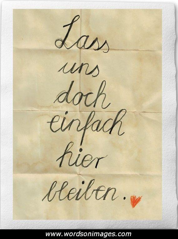 German Love Quotes Quotesgram