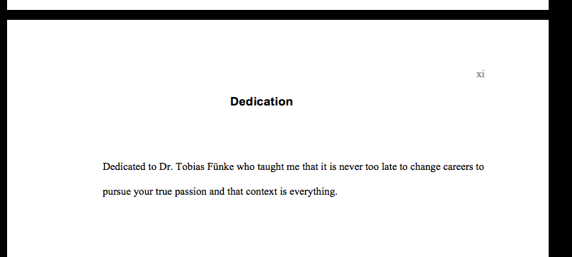 best dedications of thesis The 25 best dedications ever written by lauren passell / october 1, 2013 at 10:30 am share you might skip past the dedication in a book.