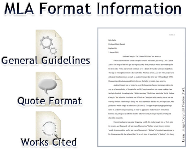 mla format quotes essays