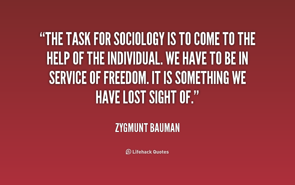 Zygmunt Bauman. Individual and society in the liquid modernity