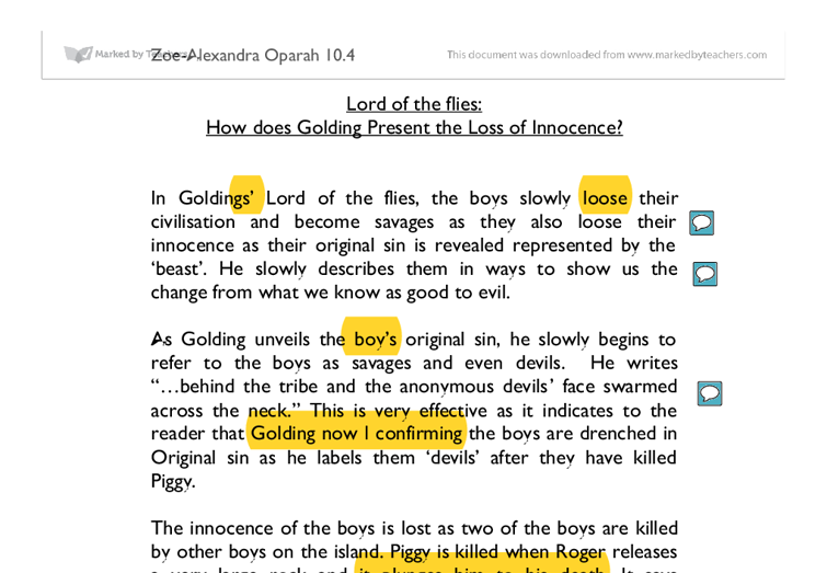What do you think golding has to say about evil in lord of the flies essay