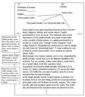 Dare essay guidelines mla