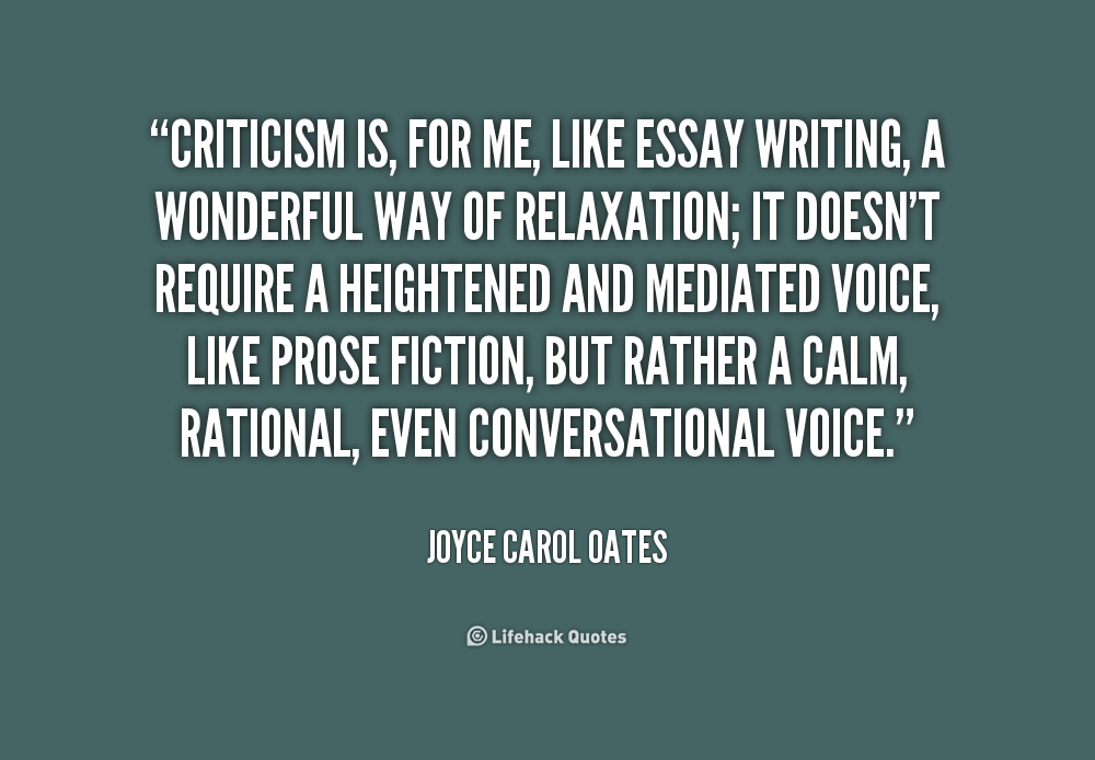 joyce carol oates critical essay analysis Summary and analysis of where are you going, where have you been buy  study guide summary joyce carol oates begins by introducing connie, a  typical, if vain,  like oates' literary invention, schmid stuffed his boots and  wore  gradesaver will pay $25 for your college application essays.