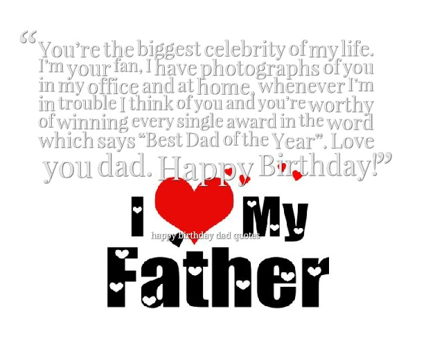 Dad Quotes From Daughter Tumblr: Happy Birthday Father Funny Quotes. QuotesGram