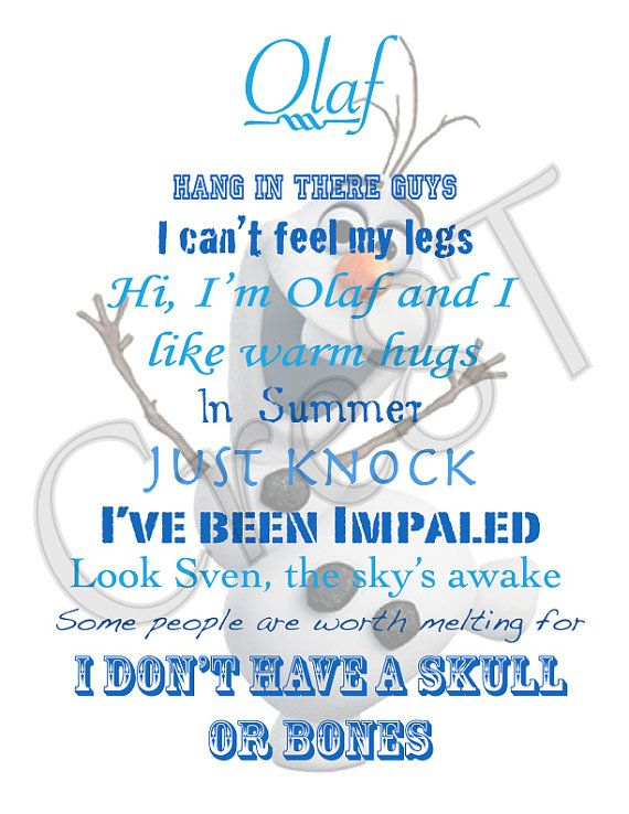 Frozen Movie Olaf Quotes. QuotesGram