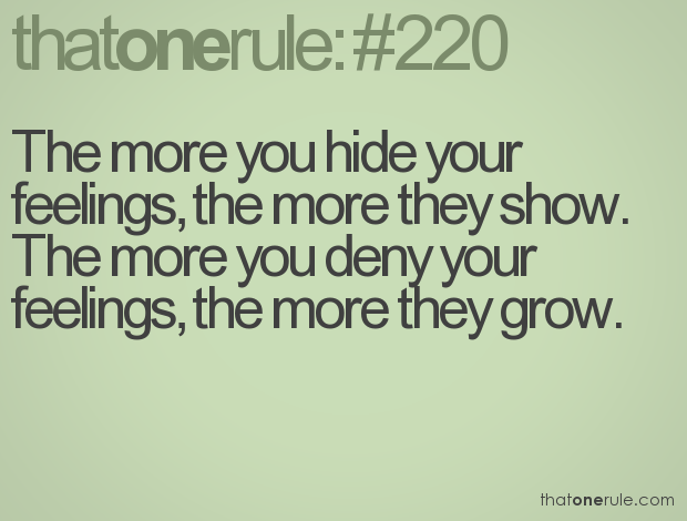 Quotes About Hiding Your Emotions. QuotesGram