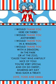 Teacher Thank You Dr Seuss Quotes. QuotesGram