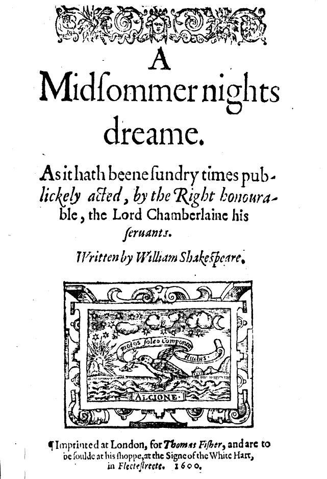 shakespeares play in midsummers nights dream essay In a midsummer nights dream by william shakespeare, love and magic play a part in causing interesting and confounding problems for the characters.