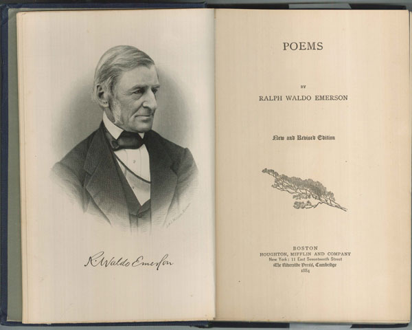 poems essays ralph waldo emerson Several of emerson's poems were included in bloom's the best poems of the english language,  emerson, ralph waldo (1983) essays and lectures new york.