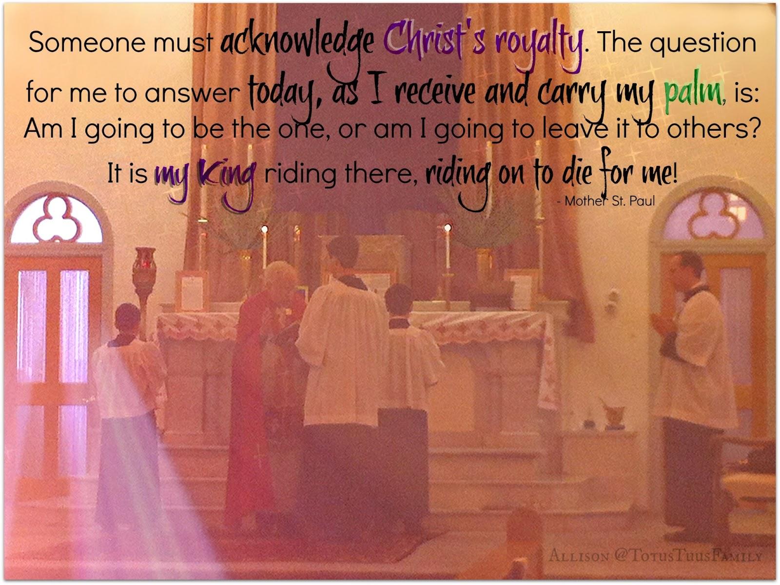 Palm Sunday Catholic Quotes. QuotesGram