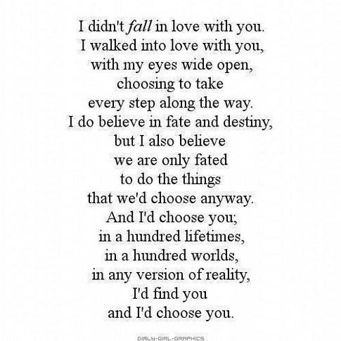 I Choose You Quotes Quotesgram