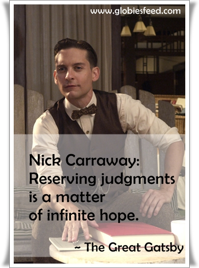the great gatsby nick and relationship quotes