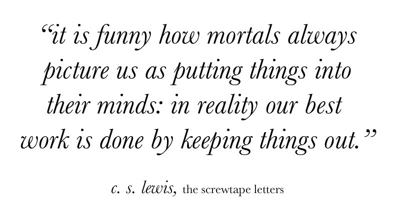 the screwtape letters essay The screwtape letters, by cs lewis, is a very unique and intriguing book it is written as if it were a collection of letters composed by an evil underworld spirit named screwtape to be received and to give guidance to his spirit nephew, wormwood.
