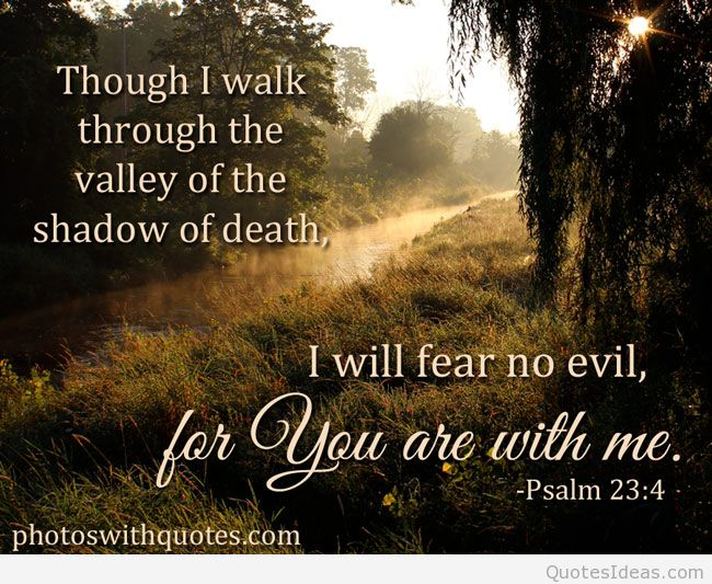 Bible Quotes About Fearing No Evil. QuotesGram