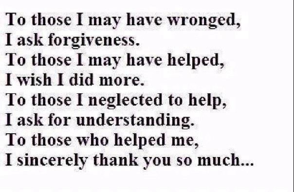 Me thank poems you for forgiving Sincere 'I'm