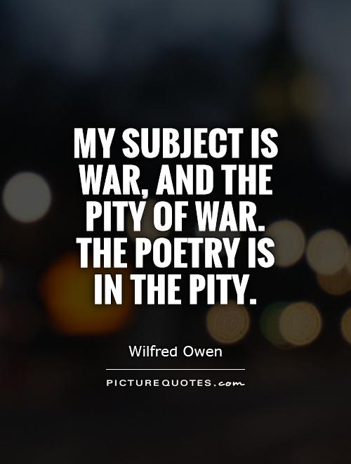 the subject of war in poetry from Poets' corner - subject children - poets' corner is a diverse collection containing thousands of online works from several hundred poets this is an index categorized by subject matter.