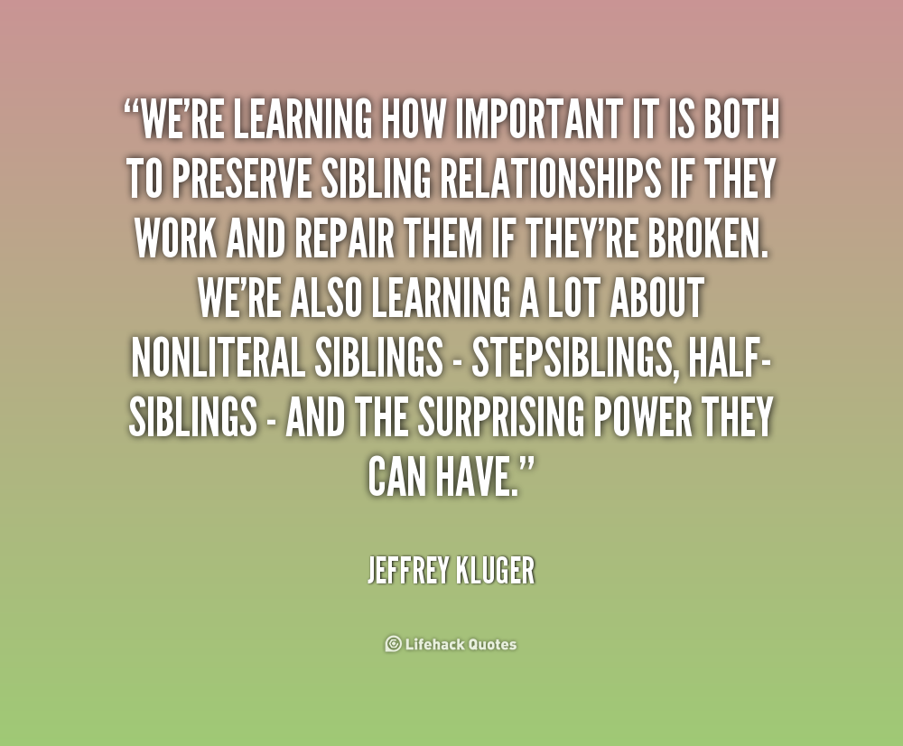 Quotes About Sibling Love Quotesgram