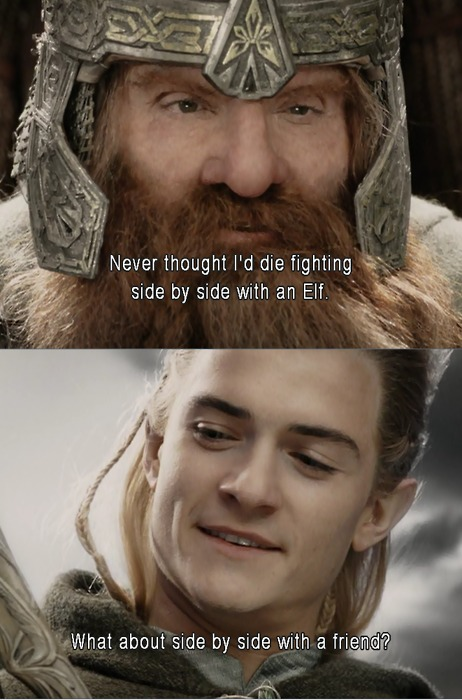 Legolas And Gimli Quotes. QuotesGram