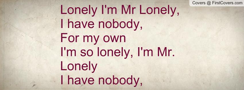 mr lonely im mister