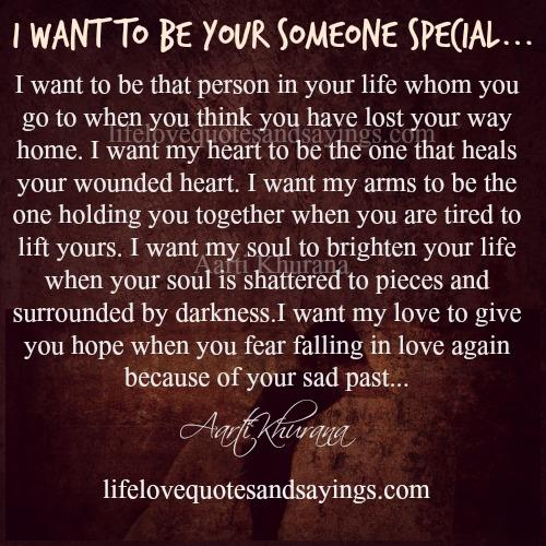 Special Love Quotes For Him: Love Quotes To Someone Special. QuotesGram