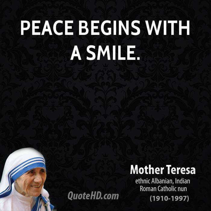 Quotes About Peace: Mother Teresa Quotes About Peace. QuotesGram
