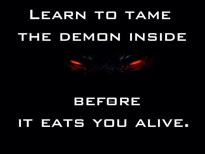 Quotes About Your Demons: Quotes About Demons Inside. QuotesGram