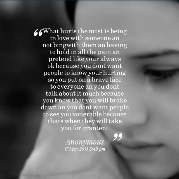 Quotes About Being Hurt. QuotesGram