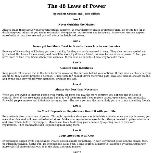 48 Laws Of Power Quotes: 48 Laws Of Power Quotes. QuotesGram