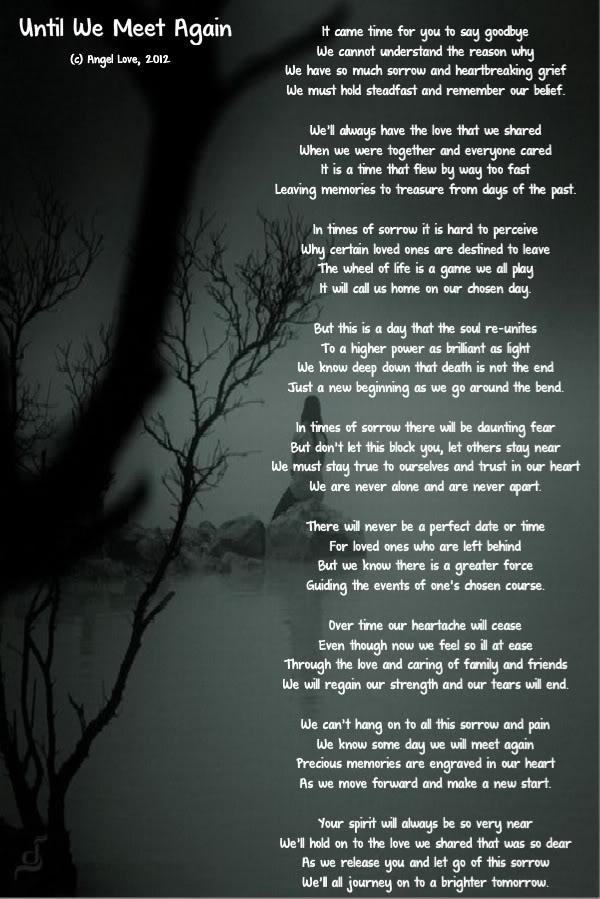 Meet poem we love until again TOUCHING HEARTS: