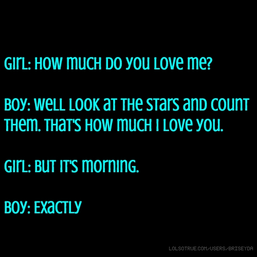 You love me girl