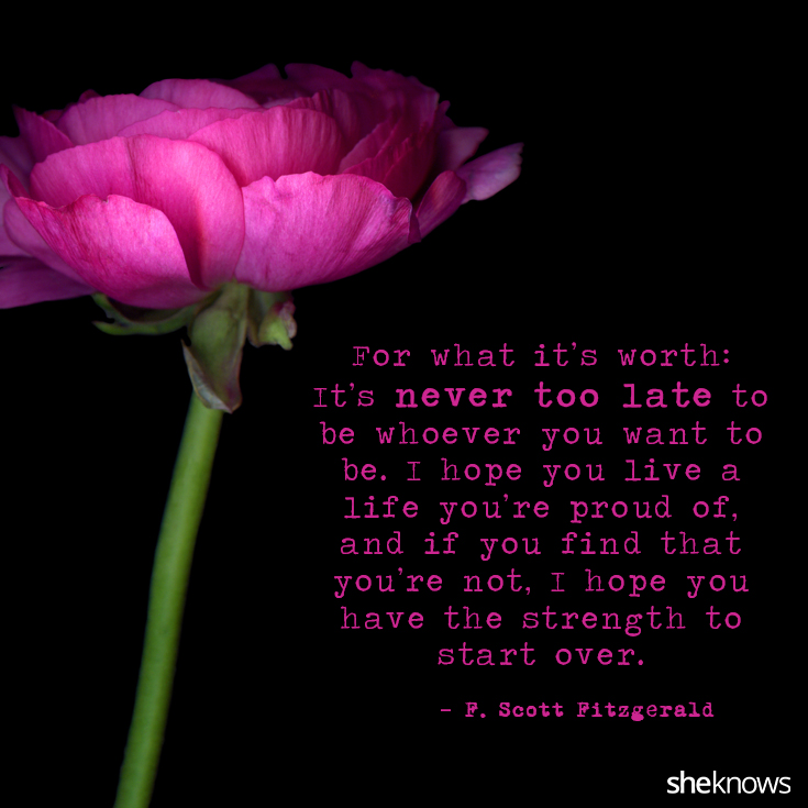 Inner Strength A...F Scott Fitzgerald Quotes I Hope You Live A Life