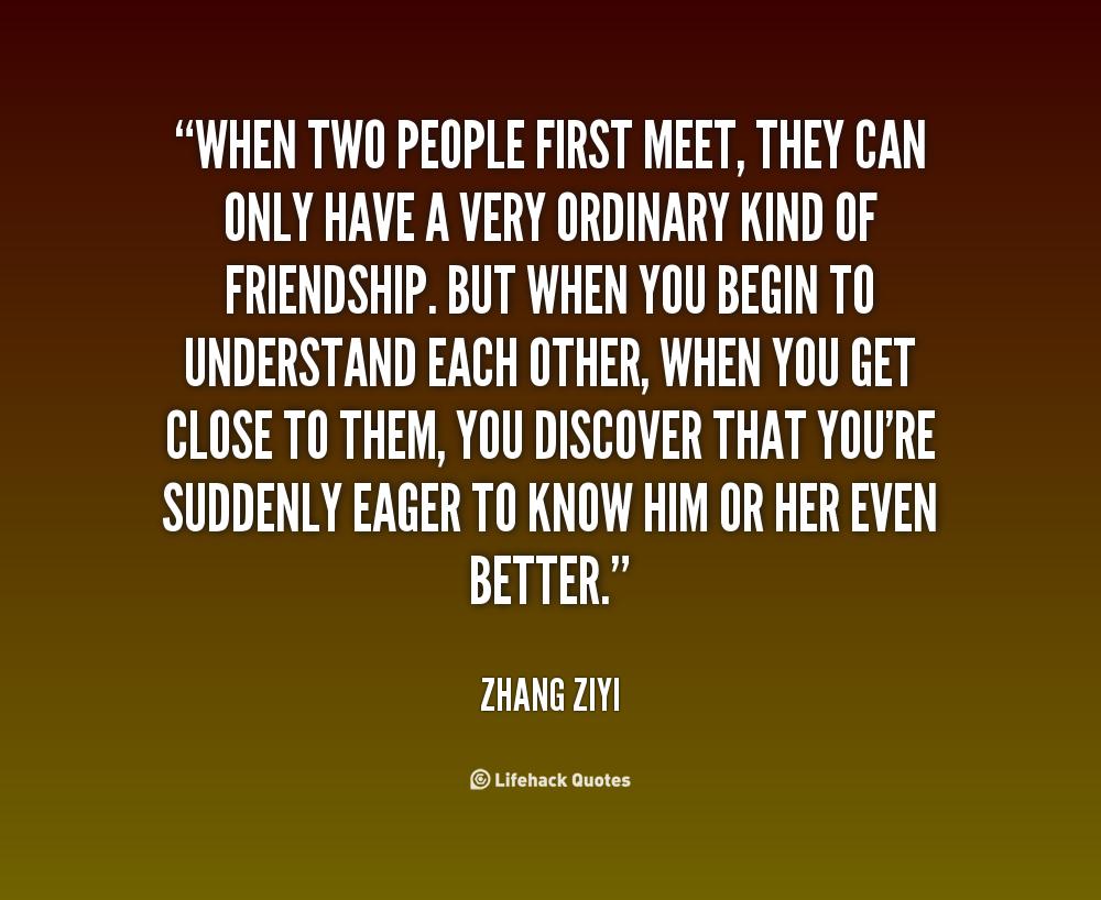 first meet someone