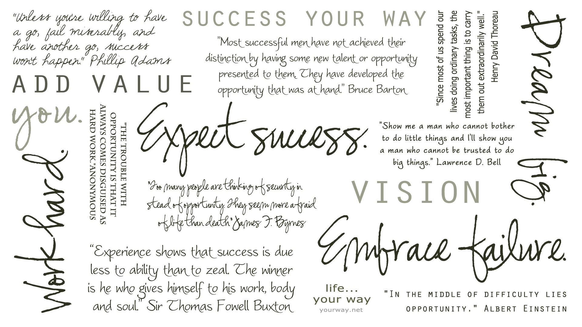 Success Desktop Quotes Quotesgram