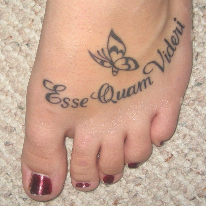Quotes Foot Tattoos For Girls Quotesgram