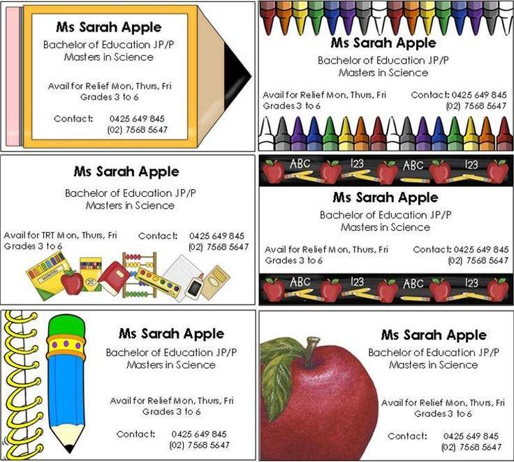sub teacher business cards templates zazzle