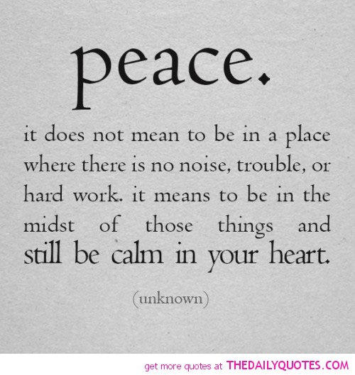 Short Sweet I Love You Quotes: Peace Quotes And Sayings. QuotesGram