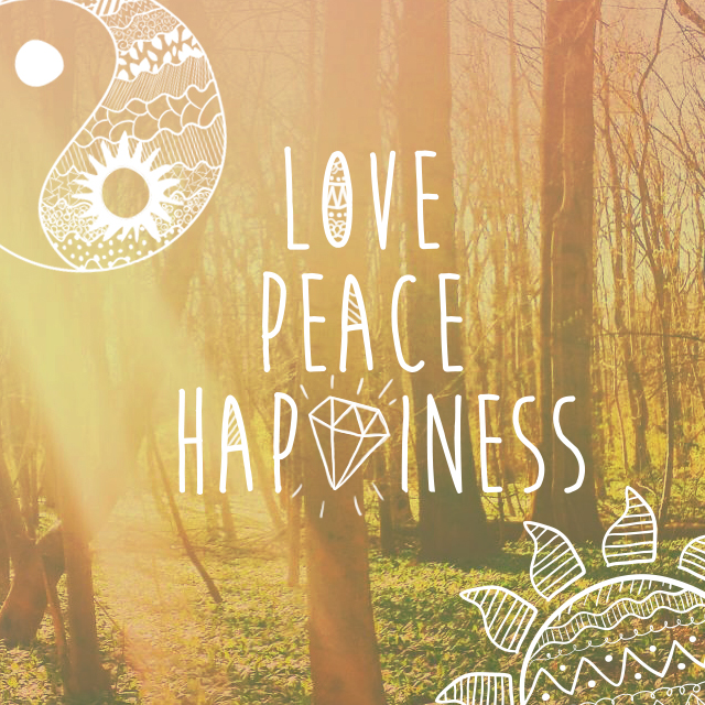 Peace love happines