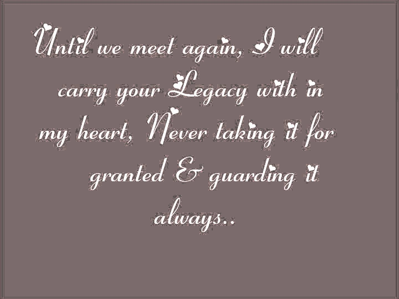 i wonder will we ever meet again
