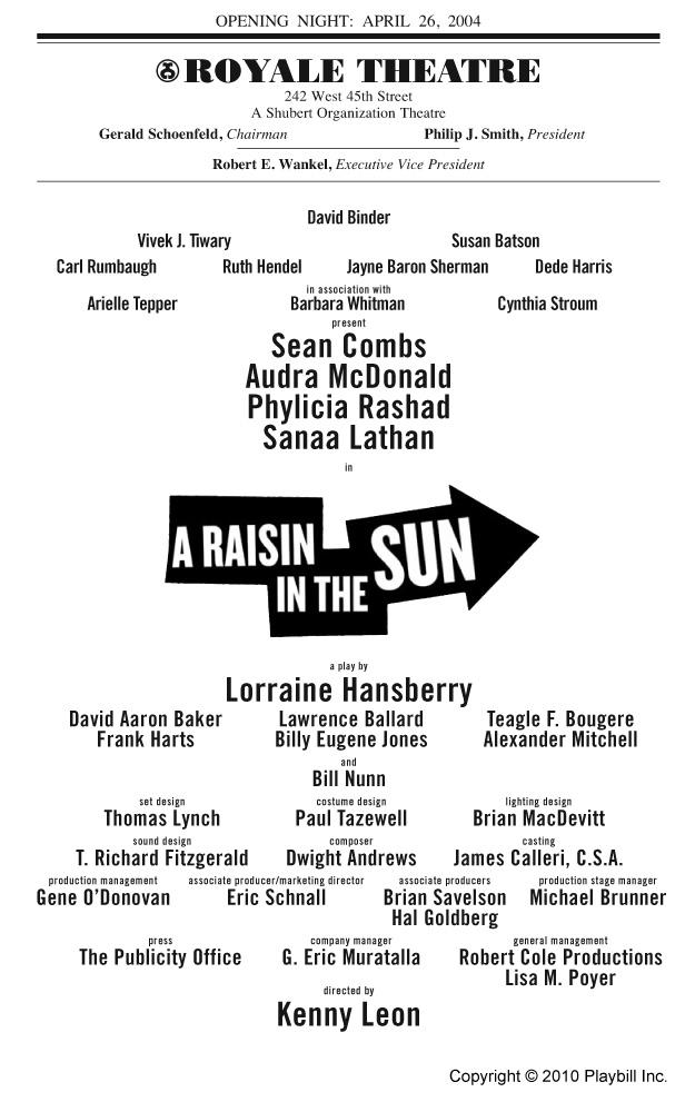 the raisin in the sun essay