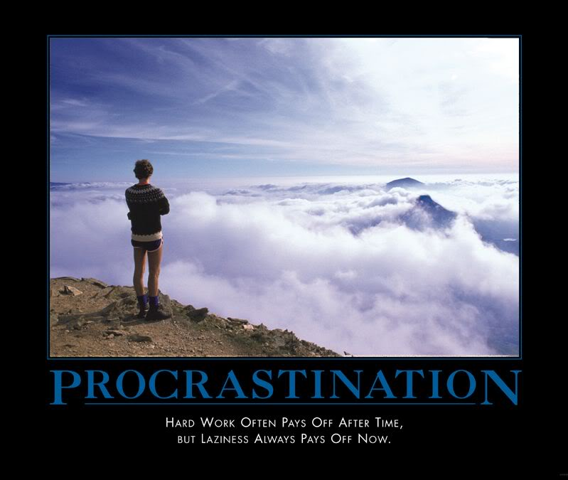 a definition of procrastination