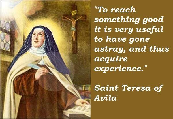 St Teresa Of Avila Quotes On Prayer Quotesgram