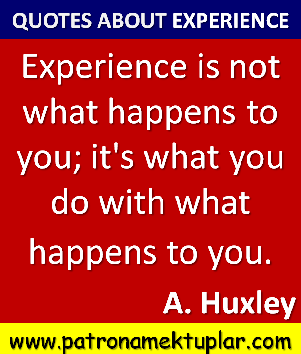 Quotes About Experience: Aldous Huxley Quotes About Experiences. QuotesGram