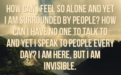 Quotes Feeling Invisible. QuotesGram