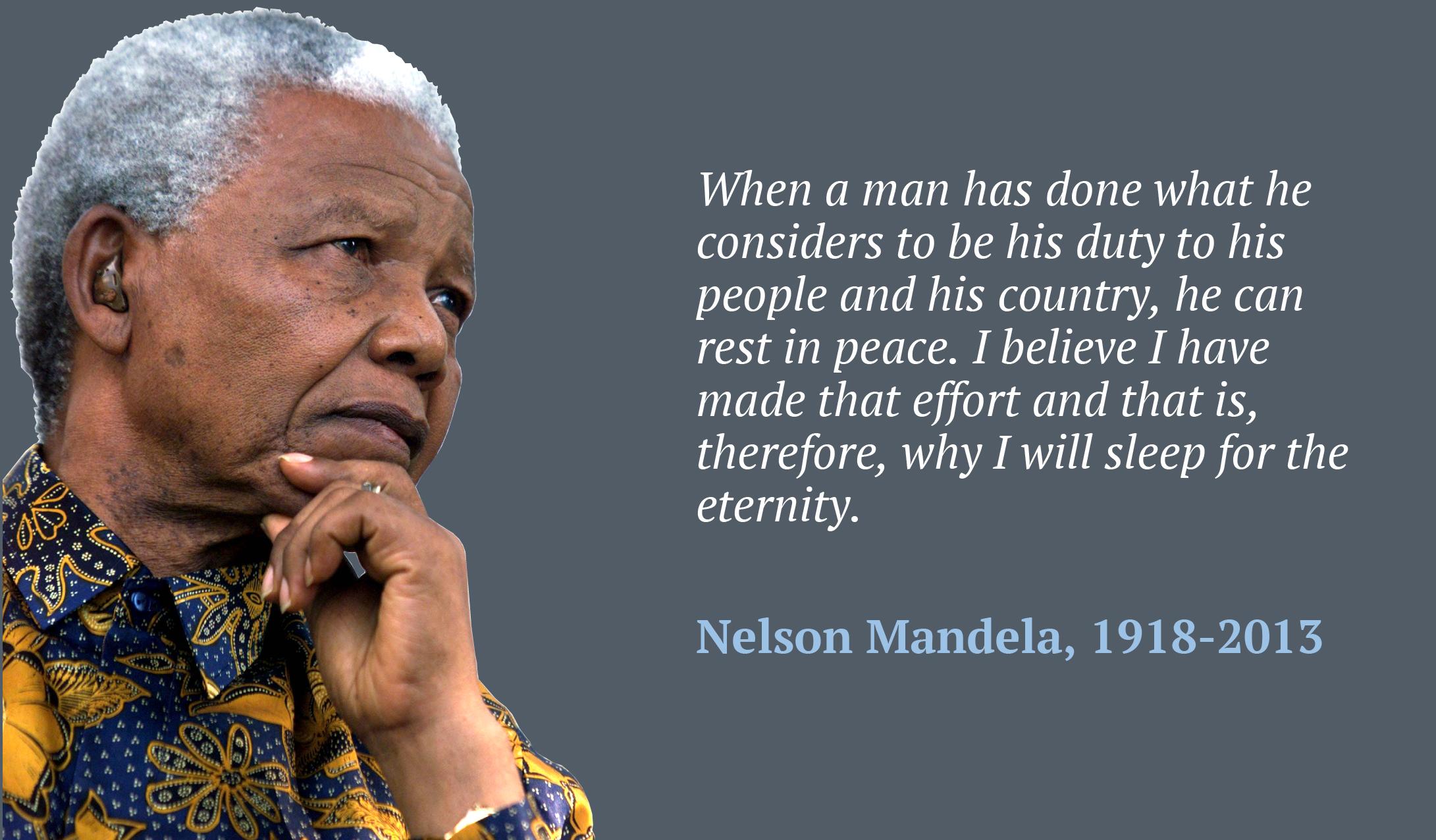 Nelson Mandela Personality Essay