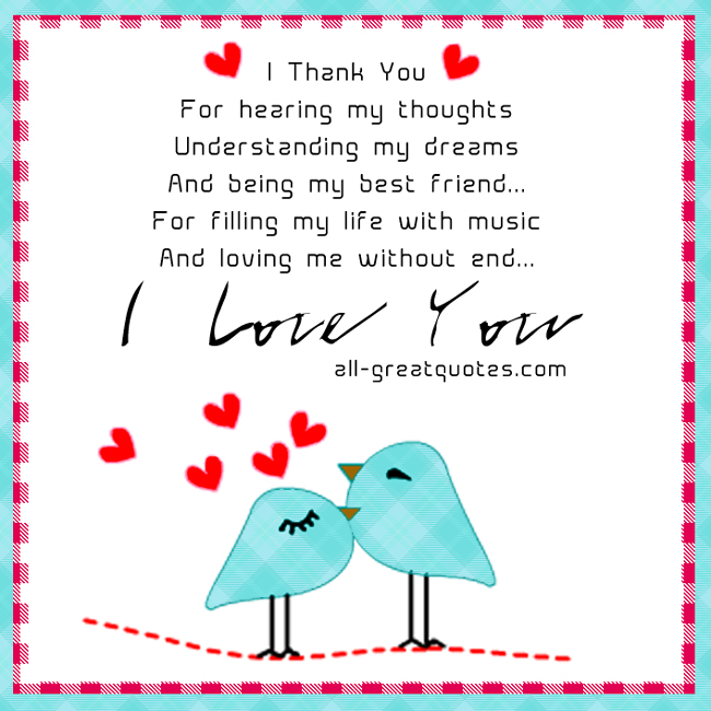 Valentine Thanks Quotes: Quotes Thank You For Understanding. QuotesGram