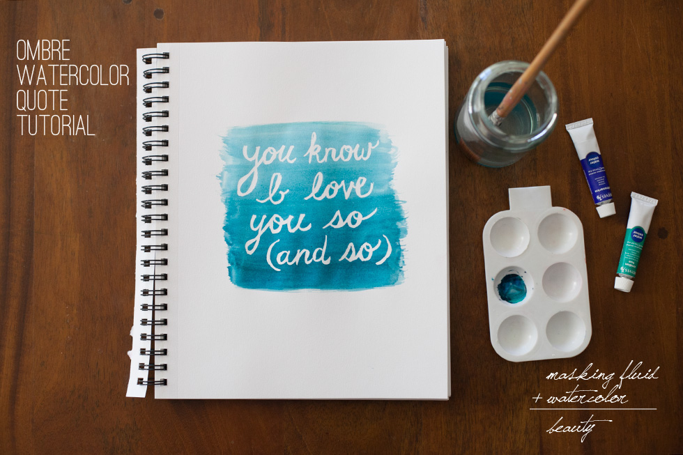 Watercolor Art With Quotes Quotesgram