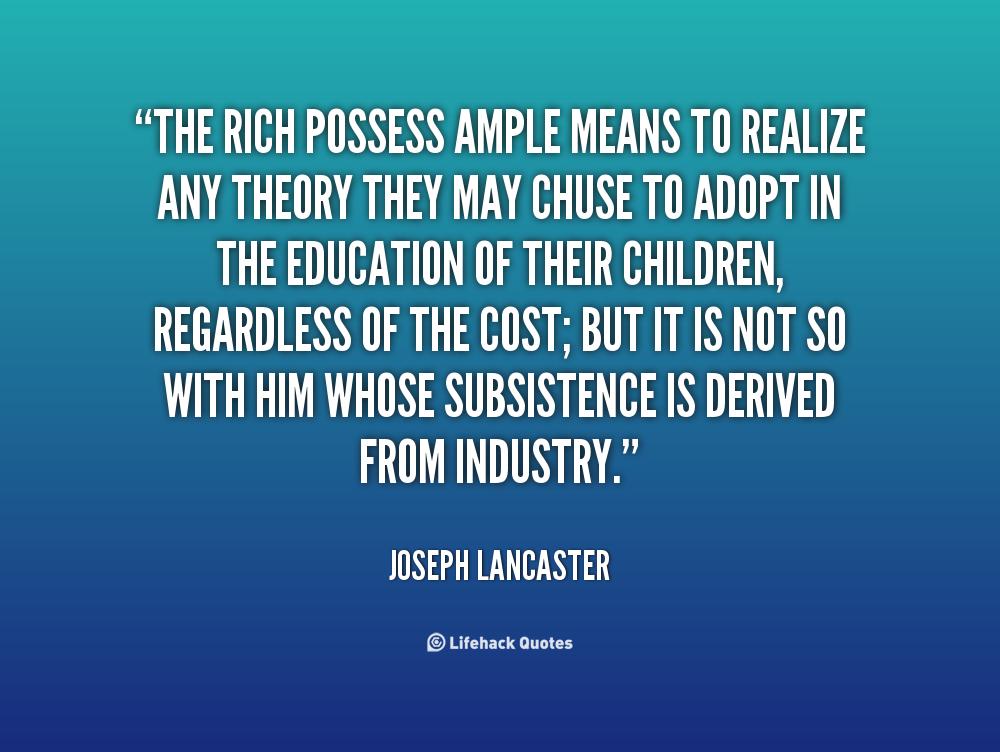 Joseph Lancaster Quotes. QuotesGram