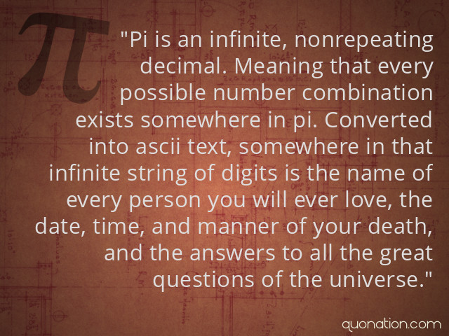 Pi Quotes. QuotesGram