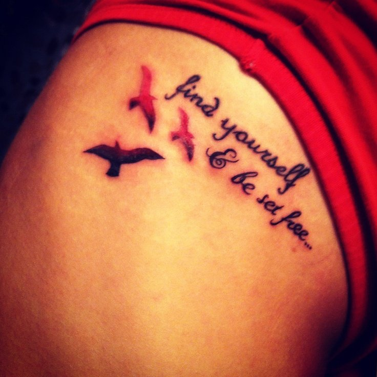 Tattoo Quotes About Loving Yourself: Tattoo Quotes About Being Yourself. QuotesGram