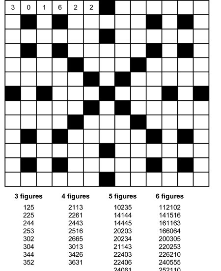 Nifty image intended for printable fillin puzzles